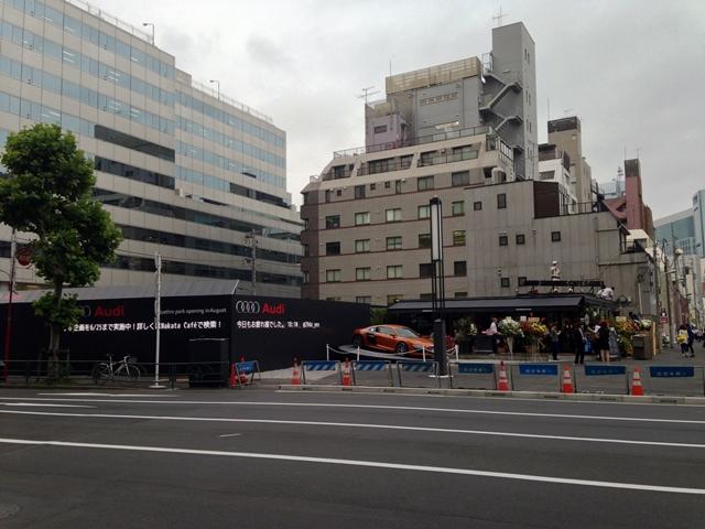 「虎ノ門ヒルズ」  新橋エントランス付近 2014.6.10