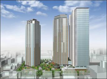 目黒駅前地区第一種市街地再開発 イメージ図
