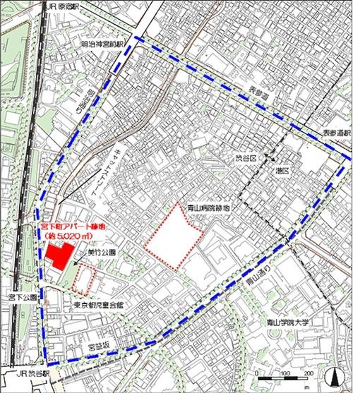 (仮称)渋谷宮下町計画 エリア図