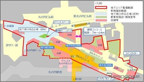 東京駅 丸の内側 地下街 イメージ図