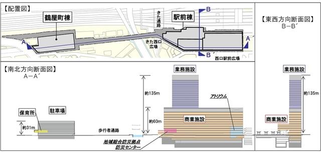 横浜駅西口 再開発ビル エリア図