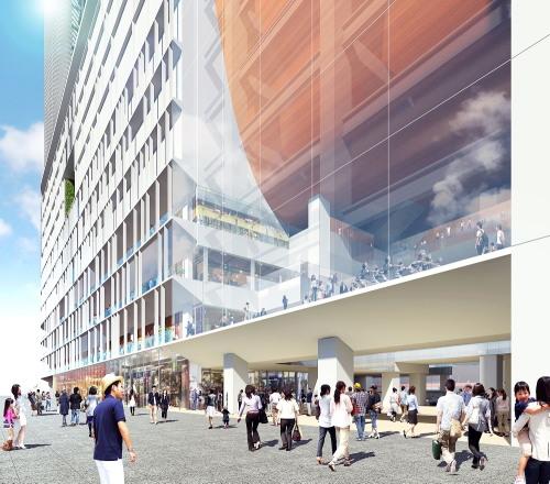 横浜駅西口 再開発ビル アトリウム