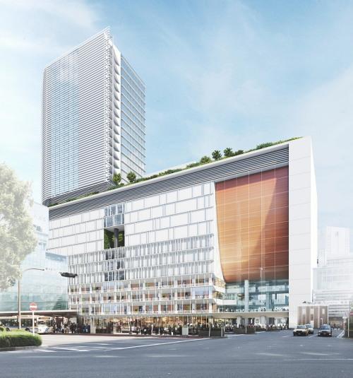 横浜駅西口 再開発ビル イメージ図