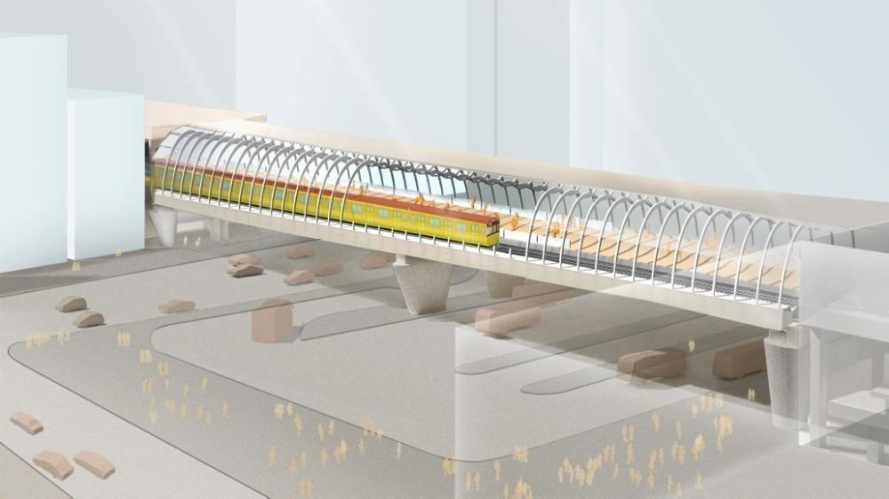 将来の銀座線渋谷駅ホームのイメージ