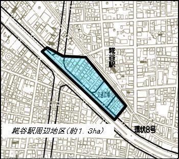 ステーションツインタワーズ糀谷 エリア図 (出典:大田区)