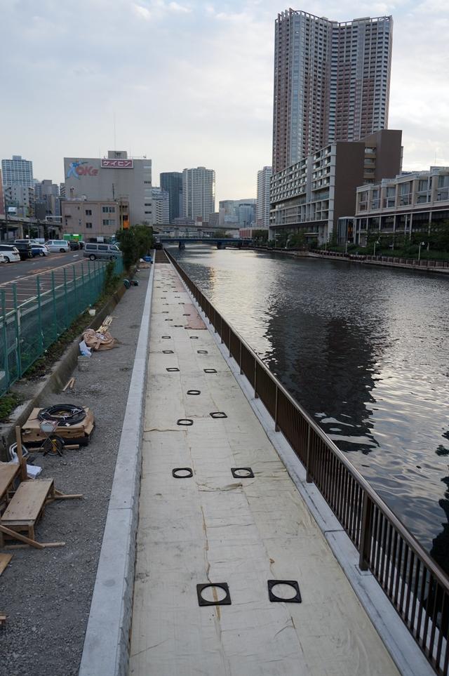 汐彩橋南側 護岸工事 2014.10.26
