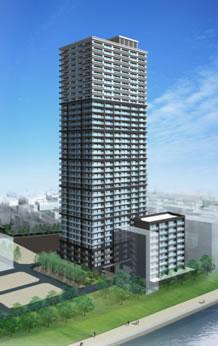 「湊二丁目東地区市街地再開発」 B街区イメージ図