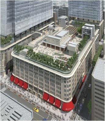 日本橋二丁目地区第一種市街地再開発事業 屋上オープンテラス