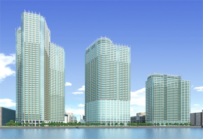 「勝どき東地区第一種市街地再開発事業」 イメージ図  (出典:東京都都市整局)