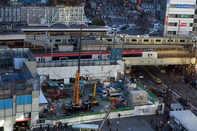 渋谷駅 再開発 2015.1.12
