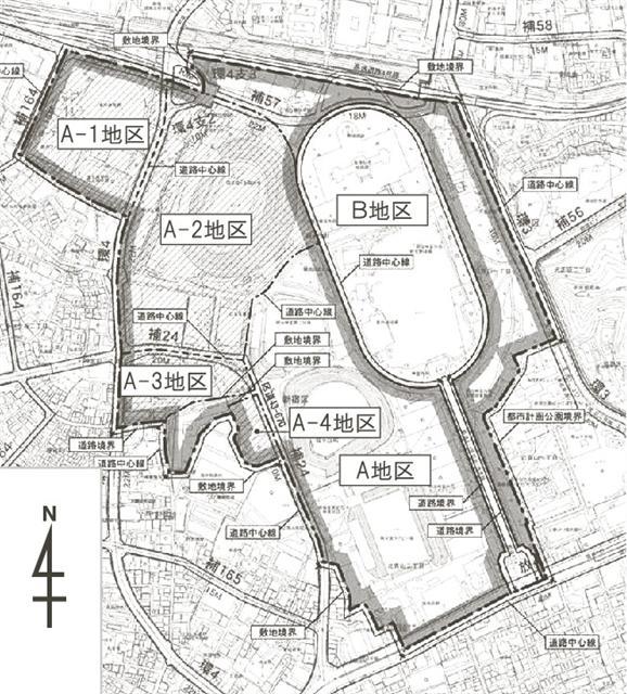 神宮外苑地区再開発 (出典:建設通信新聞)
