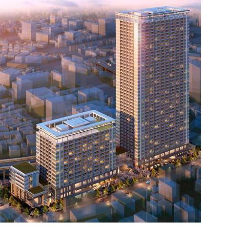 「白金一丁目東部北地区第一種市街地再開発事業」 イメージ図 (出典:東京都)